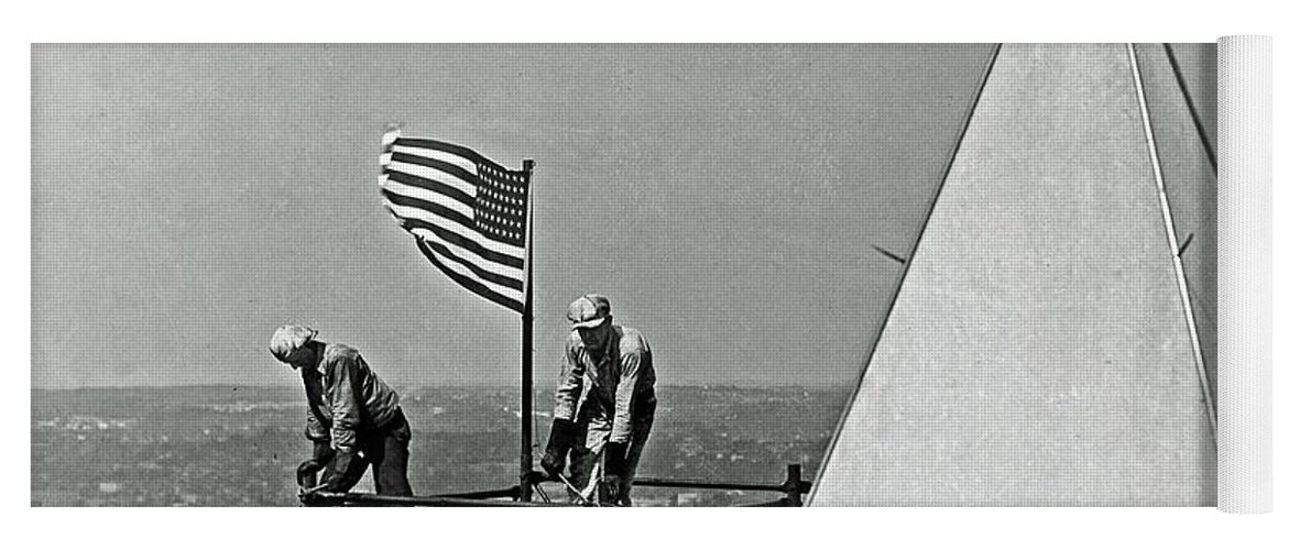 History Yoga Mat featuring the photograph Renovation Of The Washington Monument II by Jost Houk