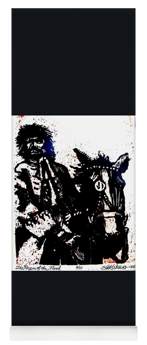 English Highwayman Yoga Mat featuring the mixed media Rogue of the Road by Seth Weaver