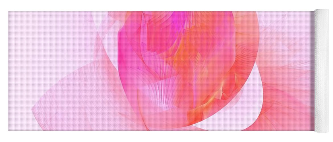 Rose Yoga Mat featuring the digital art Rose by Elizabeth McTaggart