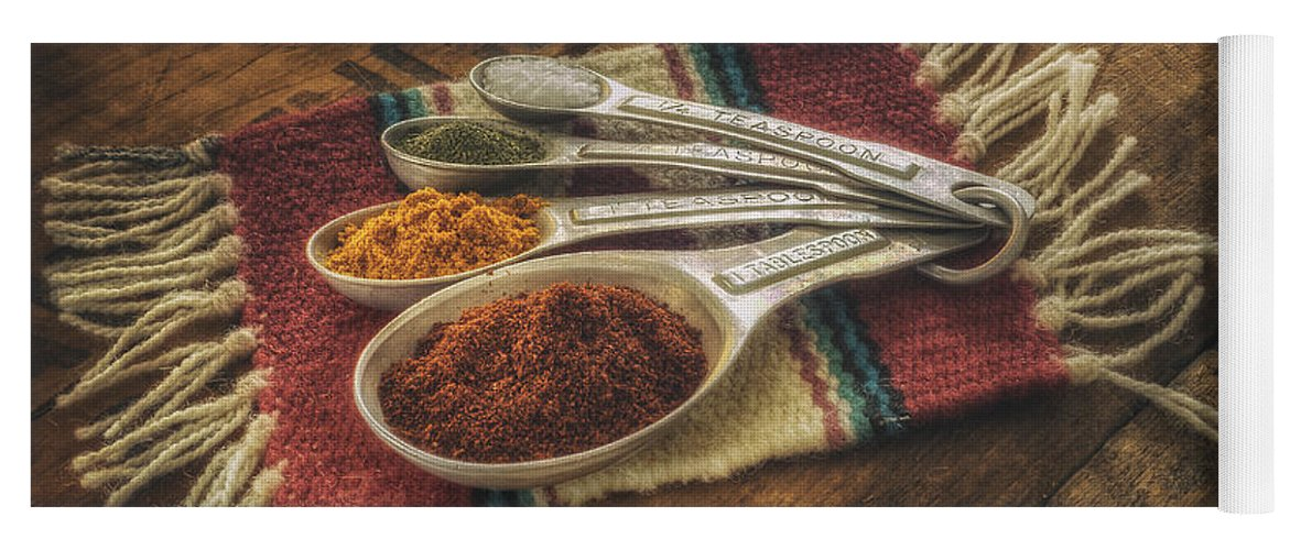 Spice Yoga Mat featuring the photograph Rustic Spices by Scott Norris