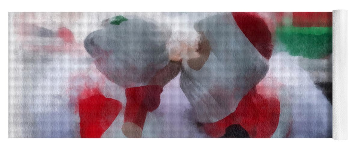 Christmas Yoga Mat featuring the photograph Santa The Most Precious Photo Art by Thomas Woolworth