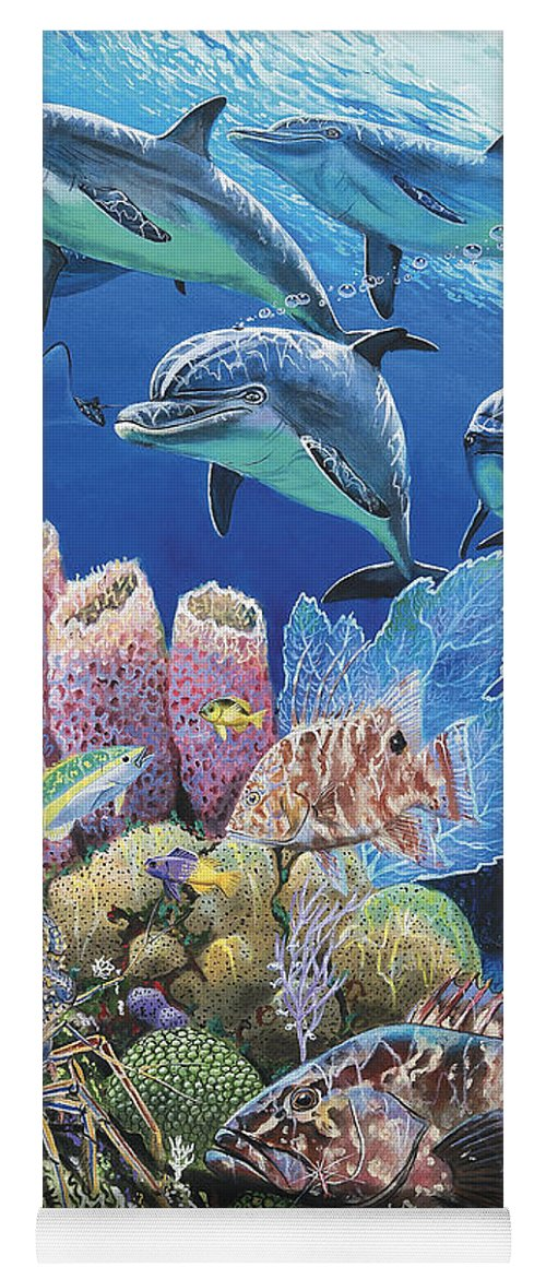 Porpoise Yoga Mat featuring the painting Scenic Route Re006 by Carey Chen