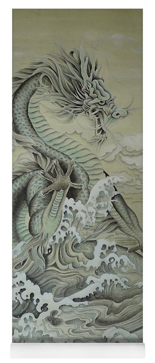 Dragon Yoga Mat featuring the painting Sea Dragon by Birgit Moldenhauer