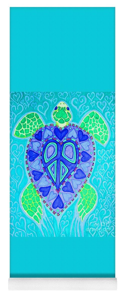 Sea Turtle Yoga Mat featuring the drawing Sea Turtle Swim by Nick Gustafson