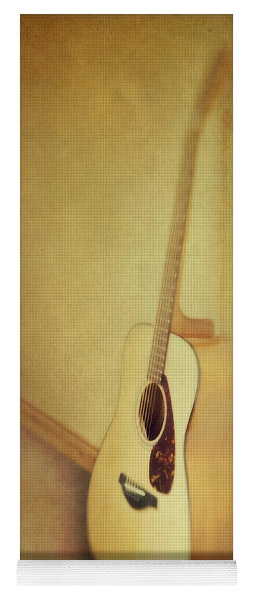 Acustic Yoga Mat featuring the photograph Silent Guitar by Priska Wettstein