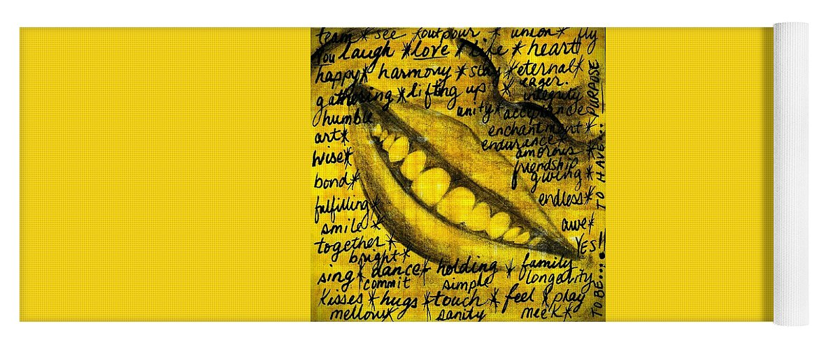 Beautiful Yoga Mat featuring the photograph Simply Smile and your golden virtues will be written all over you by Artist RiA