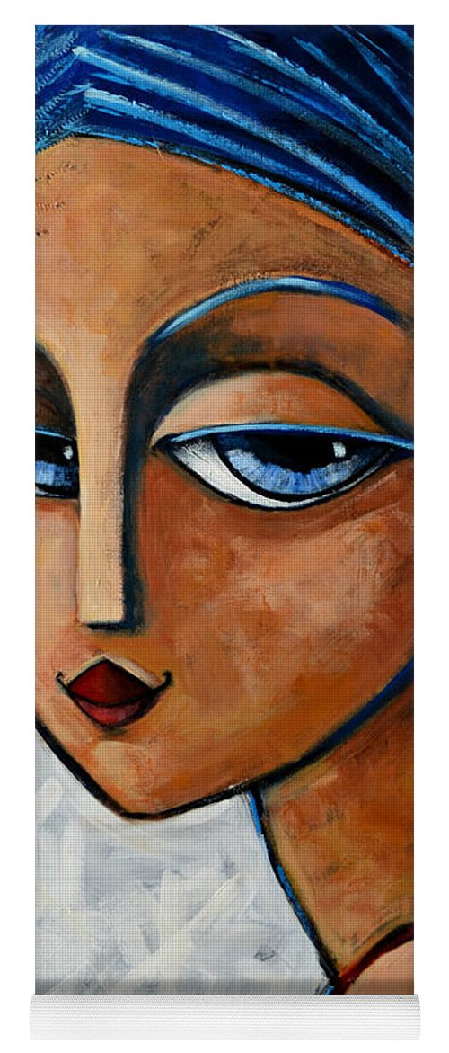 Chic Yoga Mat featuring the painting Sofia by Oscar Ortiz