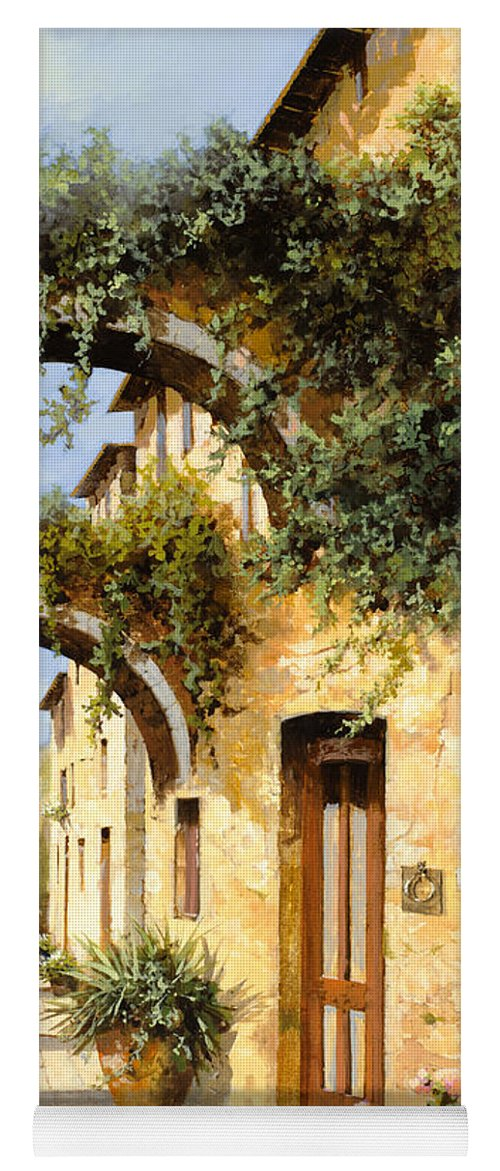 Arch Yoga Mat featuring the painting Sotto Gli Archi by Guido Borelli