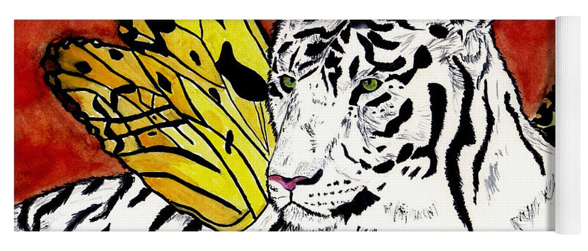 Tiger Yoga Mat featuring the painting Soul Rhapsody by Crystal Hubbard