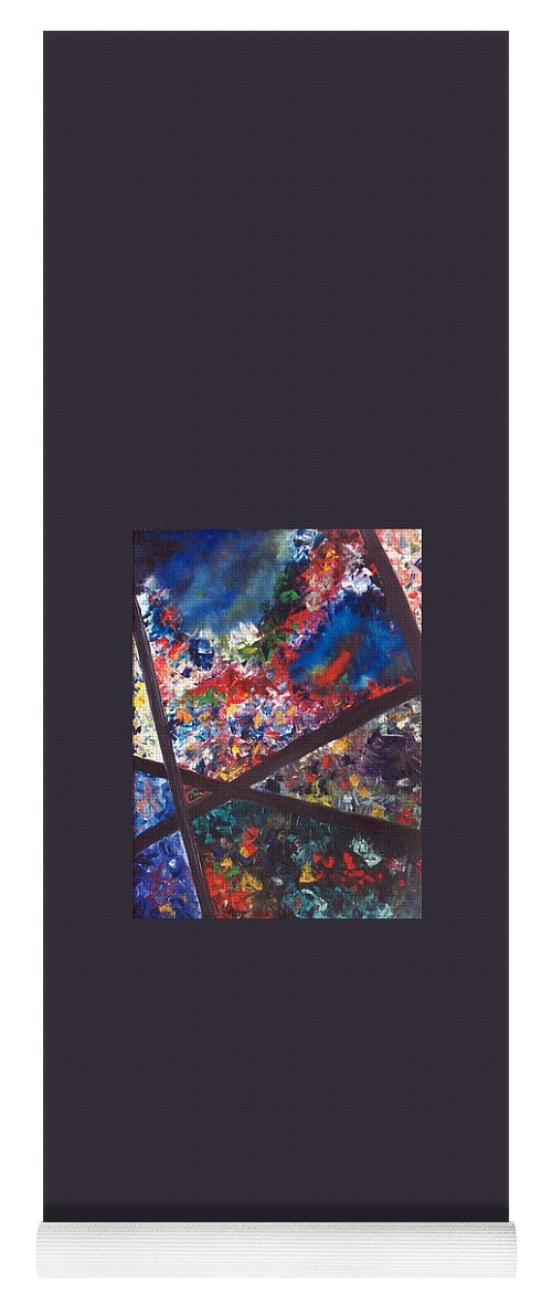 Abstract Yoga Mat featuring the painting Spectral Chaos by Micah Guenther
