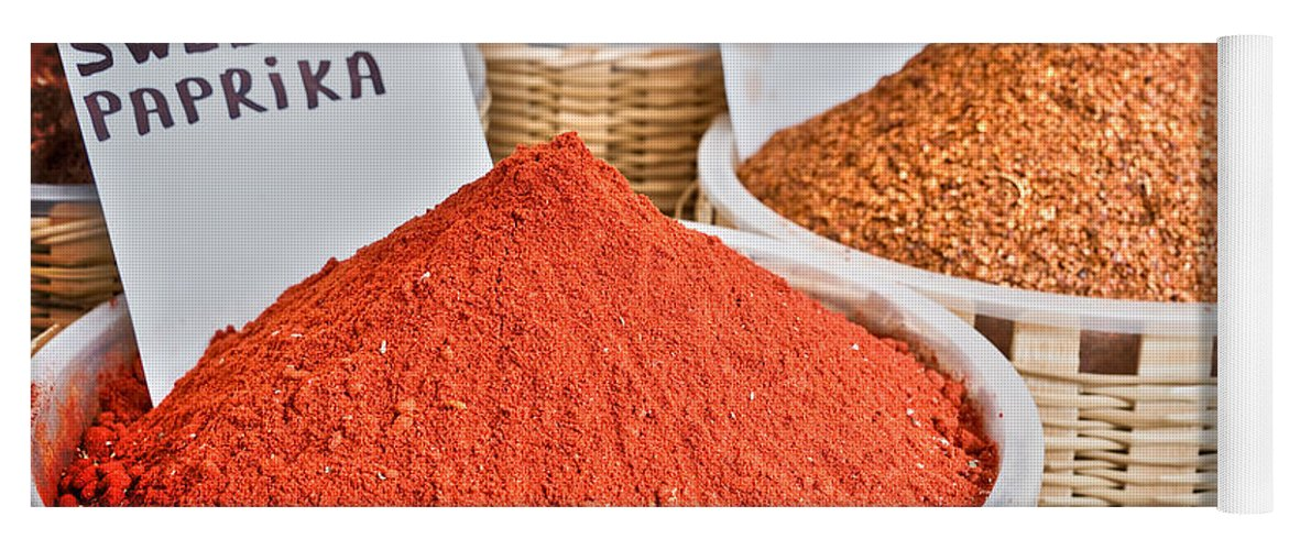 Spices Yoga Mat featuring the photograph Spice Market by Delphimages Photo Creations