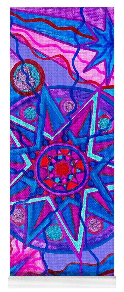 Vibration Yoga Mat featuring the painting Star Of Joy by Teal Eye Print Store