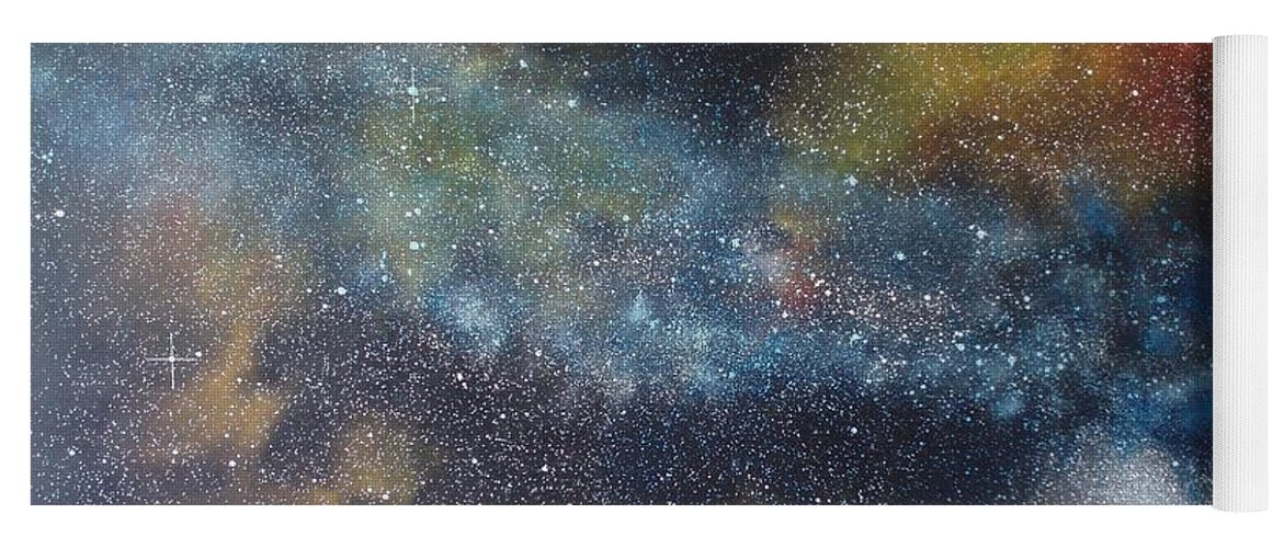 Oil Painting On Canvas Yoga Mat featuring the painting Stargasm by Sean Connolly