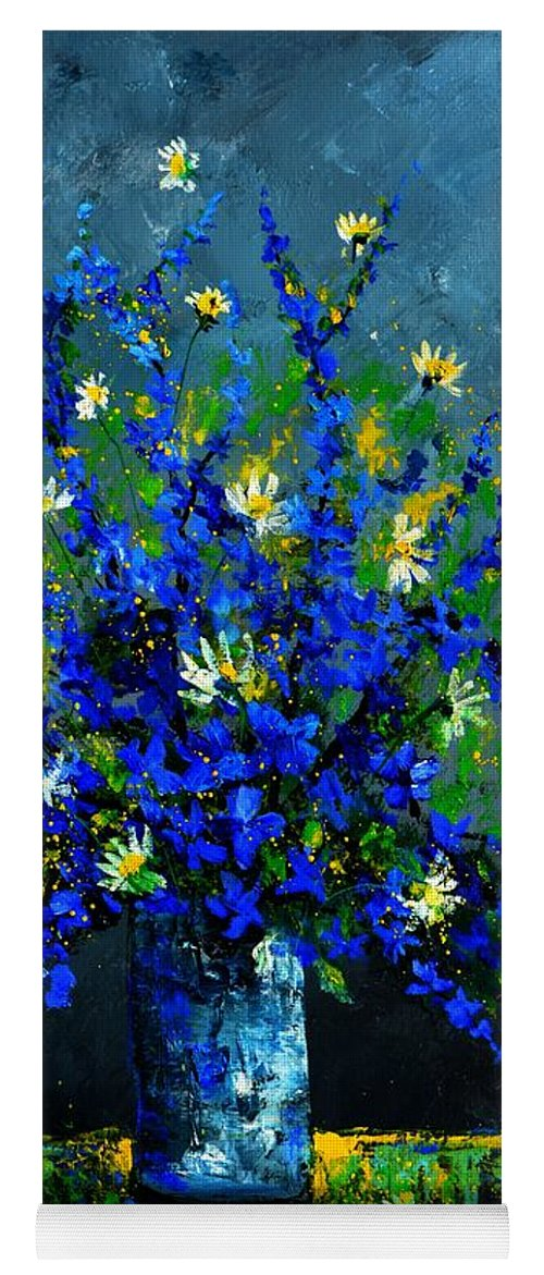 Flowers Yoga Mat featuring the painting Still life 675130 by Pol Ledent