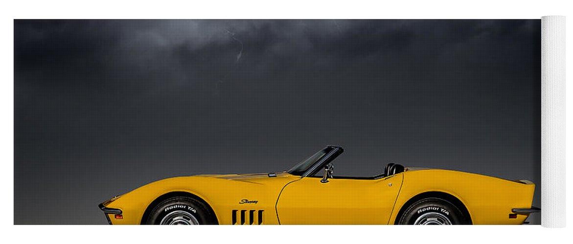 Corvette Yoga Mat featuring the digital art Stormy Weather by Douglas Pittman