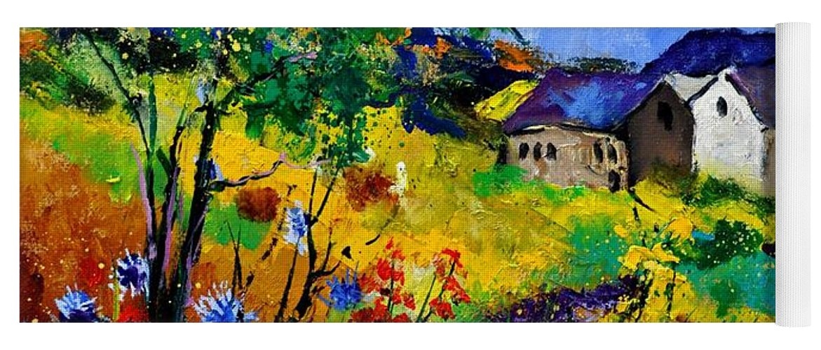 Landscape Yoga Mat featuring the painting Summer 673180 by Pol Ledent