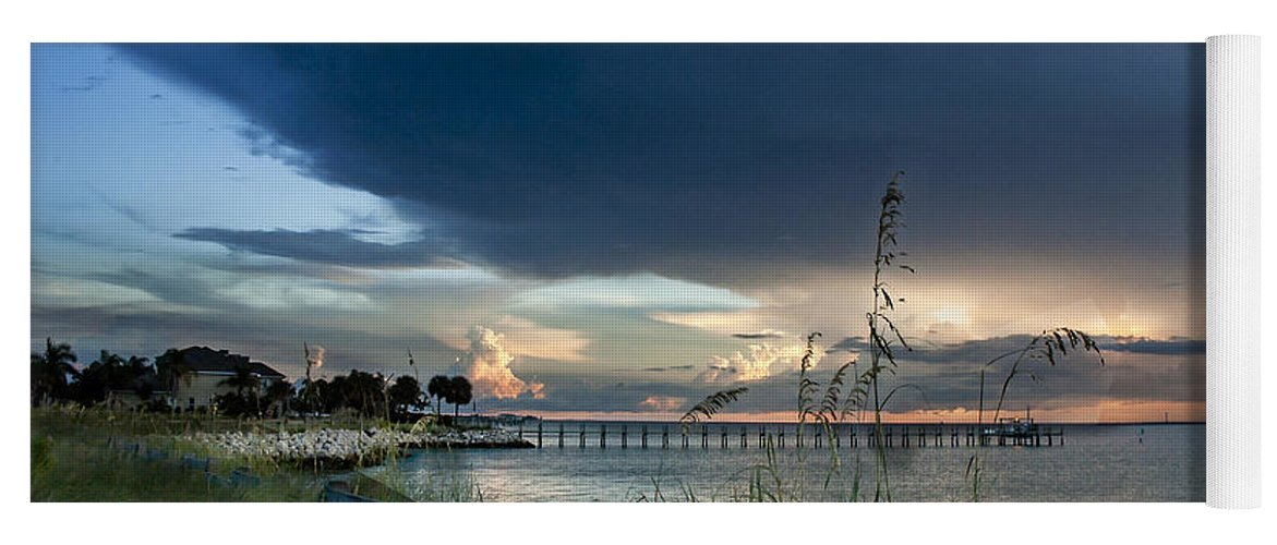 Sunset Yoga Mat featuring the photograph Sunset On Tampa Bay by Norman Johnson