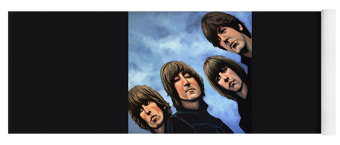 The Beatles Yoga Mat featuring the painting The Beatles Rubber Soul by Paul Meijering