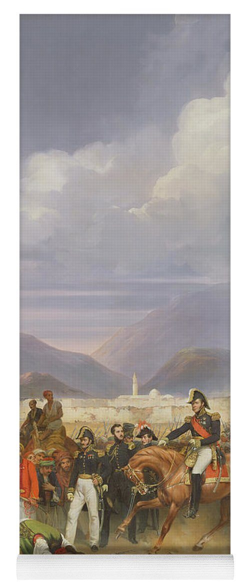 Castel Di Yoga Mat featuring the photograph The Capture Of Morea Castle, 30th October 1828, 1836 Oil On Canvas by Jean Charles Langlois