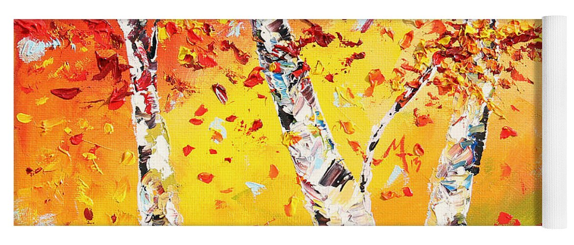 Autumn Yoga Mat featuring the painting The Change by Meaghan Troup