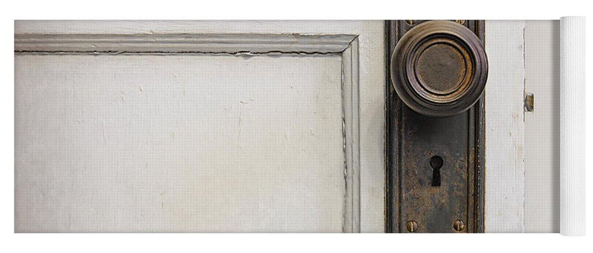 Vintage Door Knob Yoga Mat featuring the photograph The Door by Scott Norris