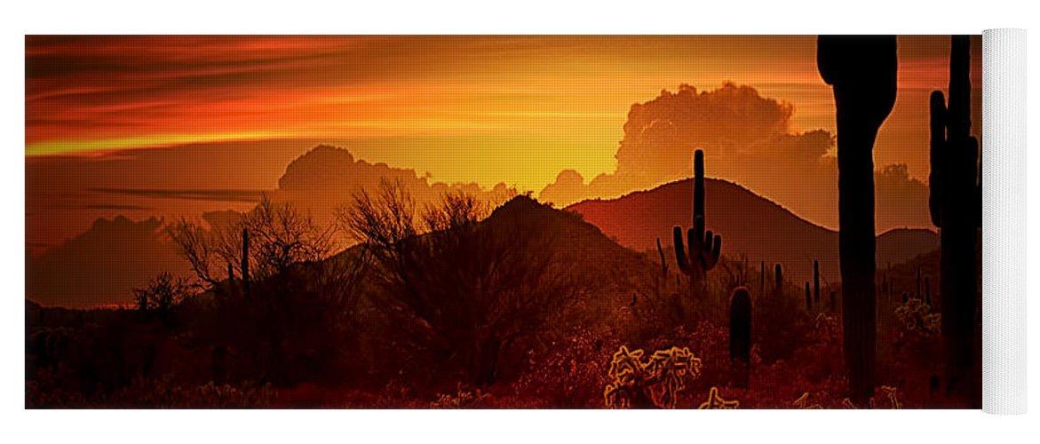 Desert Southwest Yoga Mat featuring the photograph The Essence Of The Southwest by Saija Lehtonen
