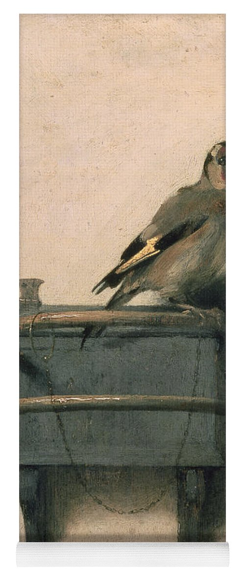 Bird Yoga Mat featuring the painting The Goldfinch by Carel Fabritius