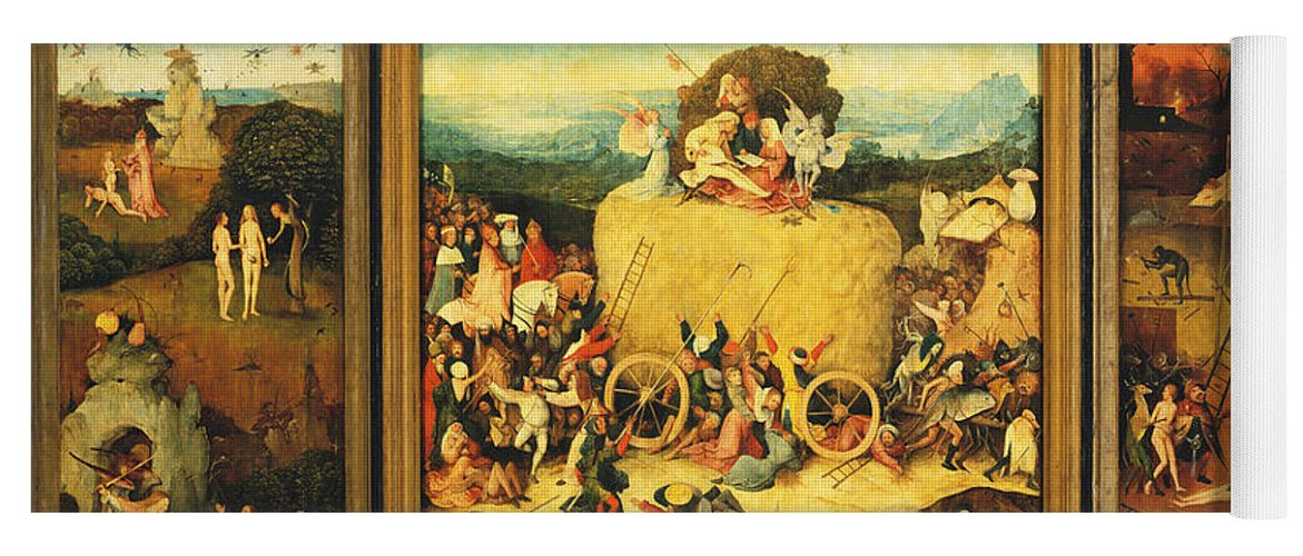 82cac778b8b Hieronymus Bosch Yoga Mat featuring the painting The Haywain Triptych by Hieronymus  Bosch