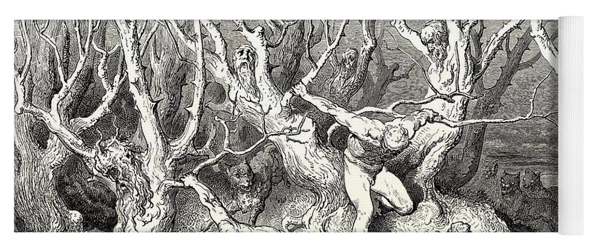 The Killing Trees From Dantes Inferno Yoga Mat