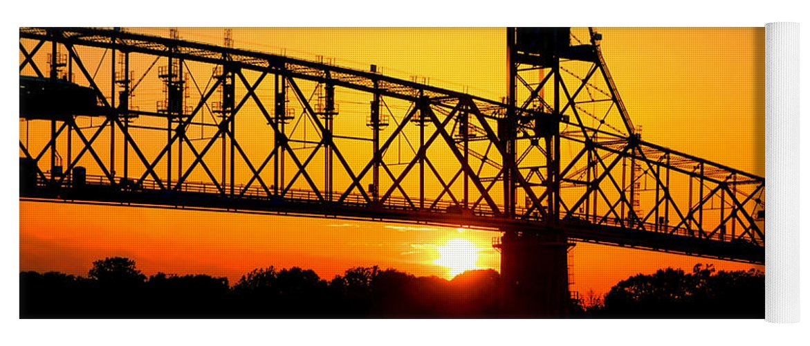 Bridge Yoga Mat featuring the photograph The Old Mighty Span by Olivier Le Queinec
