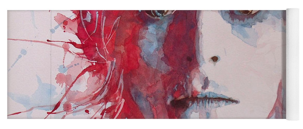 David Bowie Yoga Mat featuring the painting The Prettiest Star by Paul Lovering