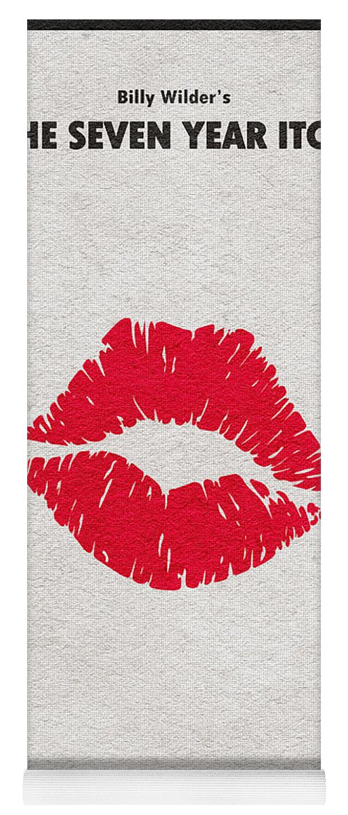 The Seven Year Itch Yoga Mat featuring the digital art The Seven Year Itch by Inspirowl Design
