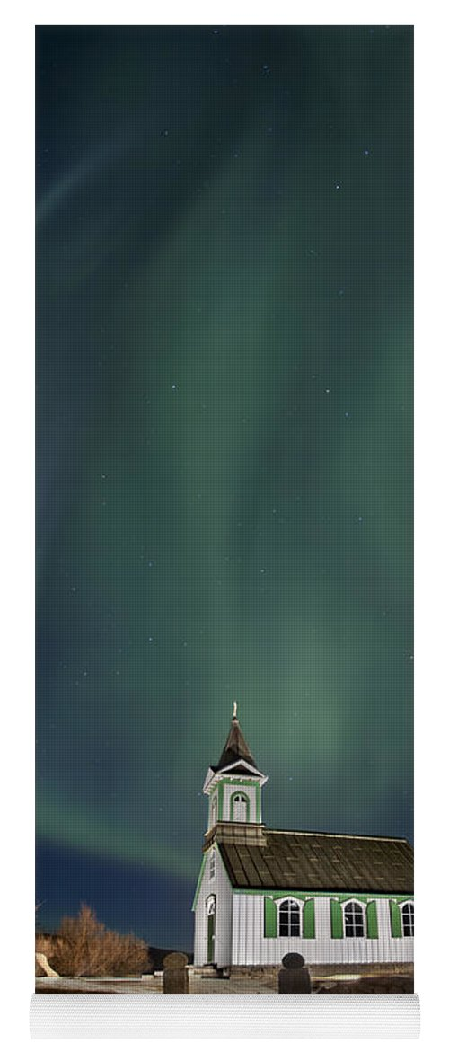 Aurora Yoga Mat featuring the photograph The Spirit Of Iceland by Evelina Kremsdorf