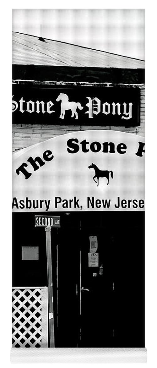 Stone Pony Yoga Mat featuring the photograph The Stone Pony Asbury Park NJ by Terry DeLuco