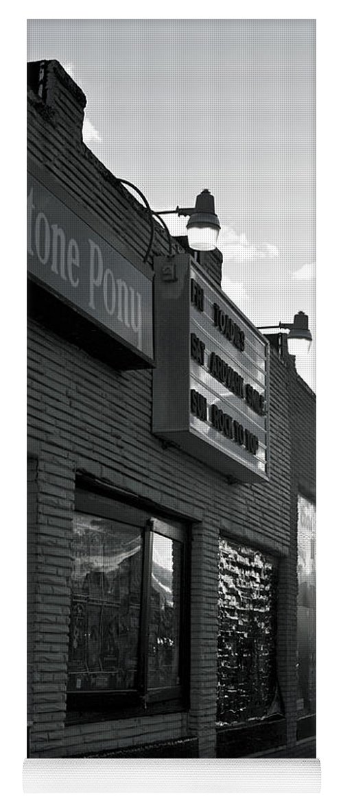 The Stone Pony Asbury Park Side View Yoga Mat featuring the photograph The Stone Pony Asbury Park Side View by Terry DeLuco