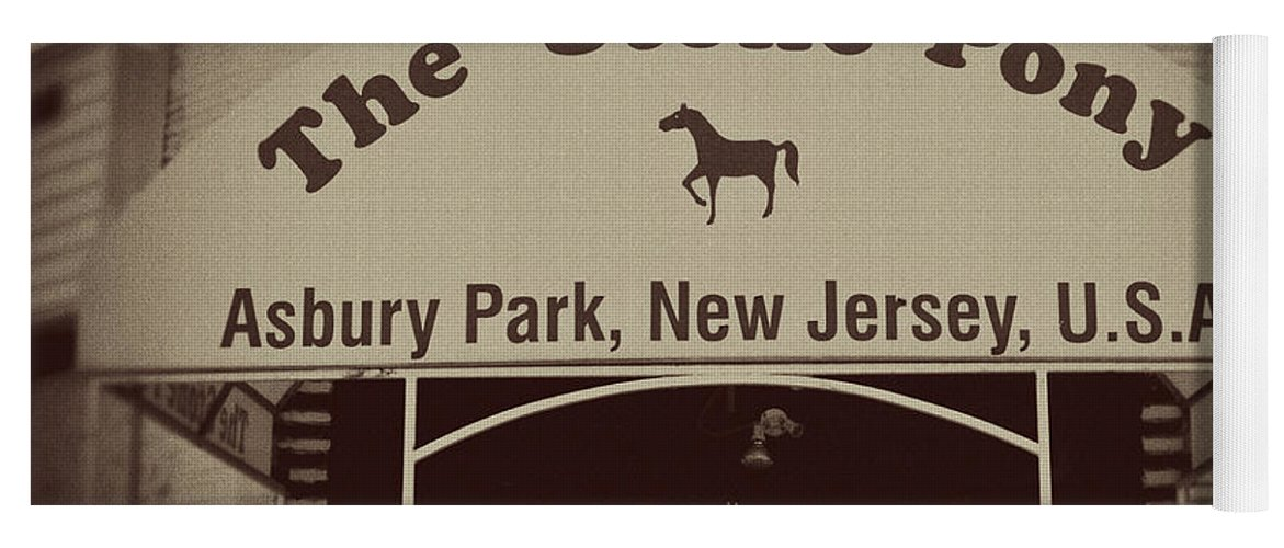 The Stone Pony Vintage Asbury Park New Jersey Yoga Mat featuring the photograph The Stone Pony Vintage Asbury Park New Jersey by Terry DeLuco