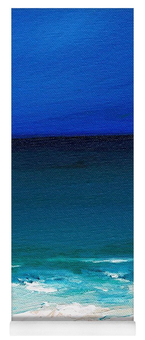 Seashore Yoga Mat featuring the painting The Tide Coming In by Frances Marino