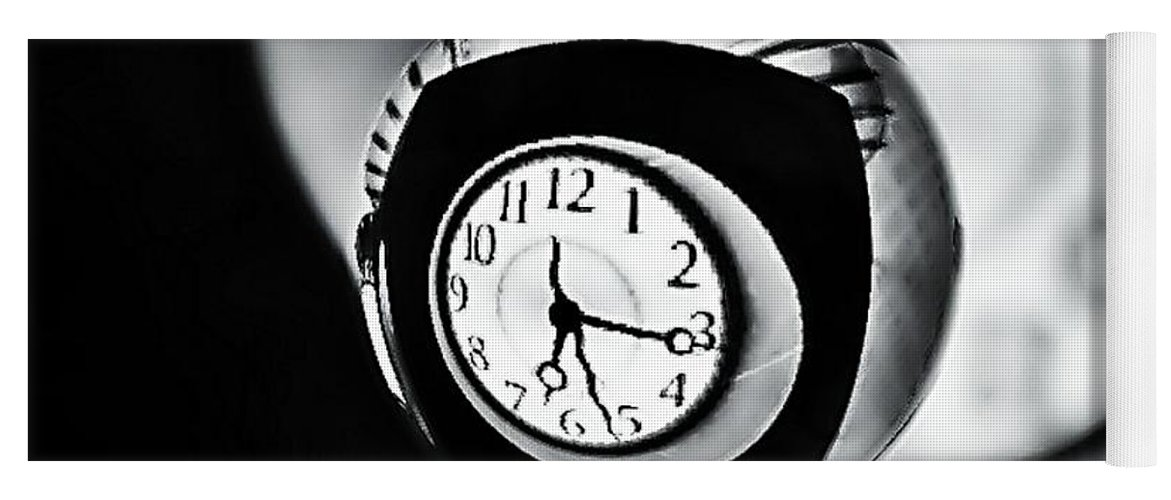 Time Is Up Yoga Mat featuring the photograph Time Is Up... by Marianna Mills