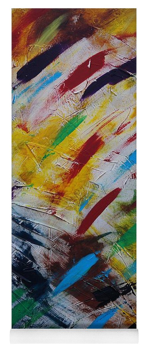 Abstract Yoga Mat featuring the painting Time stands still by Sergey Bezhinets