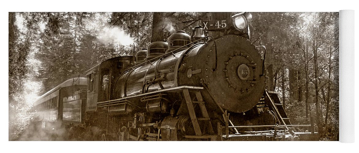 Locomotive Yoga Mat featuring the photograph Time Traveler by Donna Blackhall