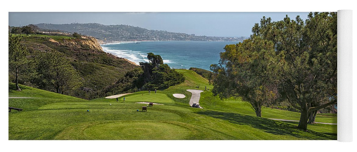 3scape Yoga Mat featuring the photograph Torrey Pines Golf Course North 6th Hole by Adam Romanowicz