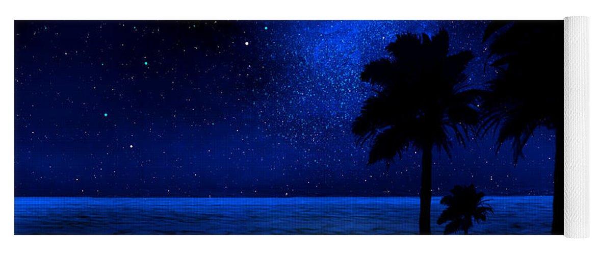 Tropical Beach Wall Mural Yoga Mat for Sale by Frank Wilson