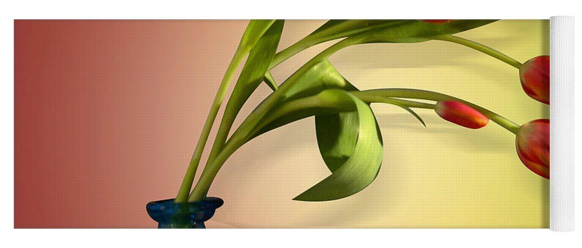 Tulips Yoga Mat featuring the photograph Tulips 5 by Mark Ashkenazi