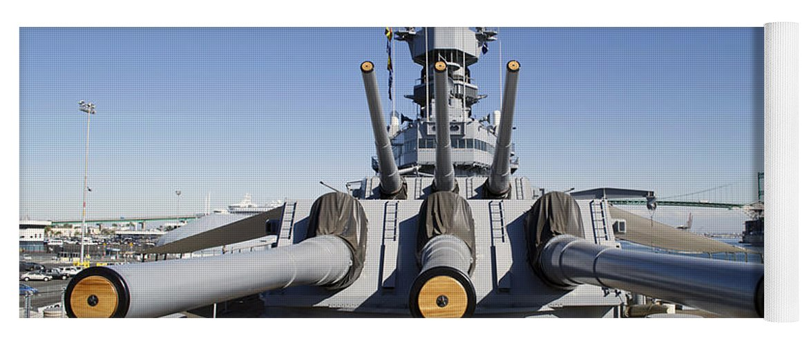 Turrets 1 And 2 Uss Iowa Battleship Shell Yoga Mat