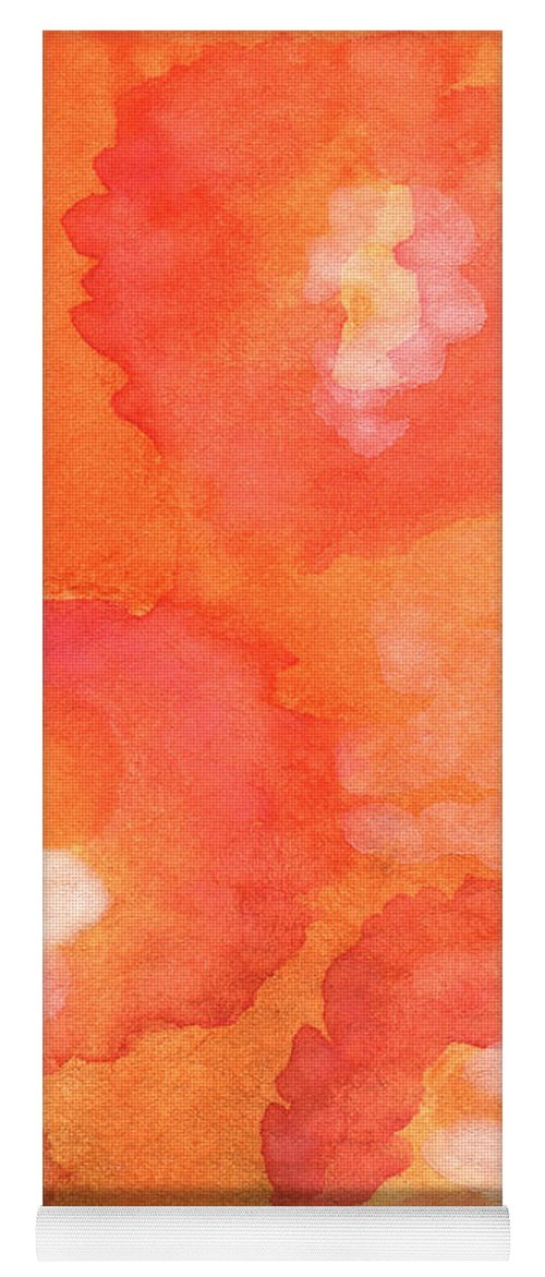 Abstract Flowers Yoga Mat featuring the painting Tuscan Roses by Linda Woods