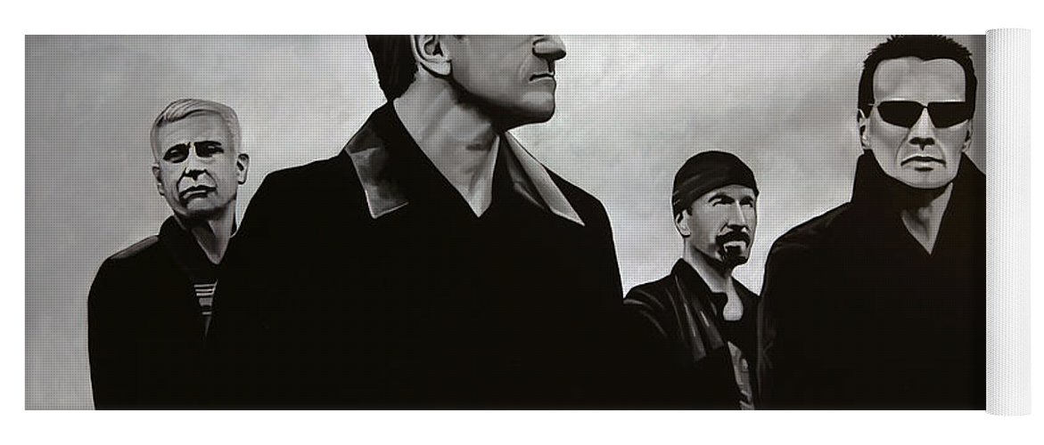 U2 Yoga Mat featuring the painting U2 by Paul Meijering