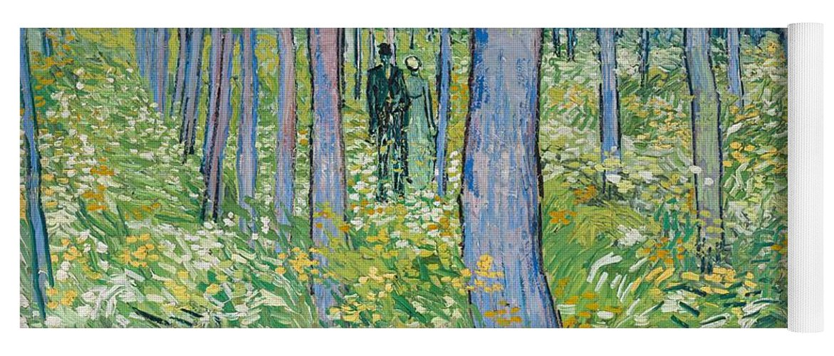 Undergrowth With Two Figures, 1890 Yoga Mat
