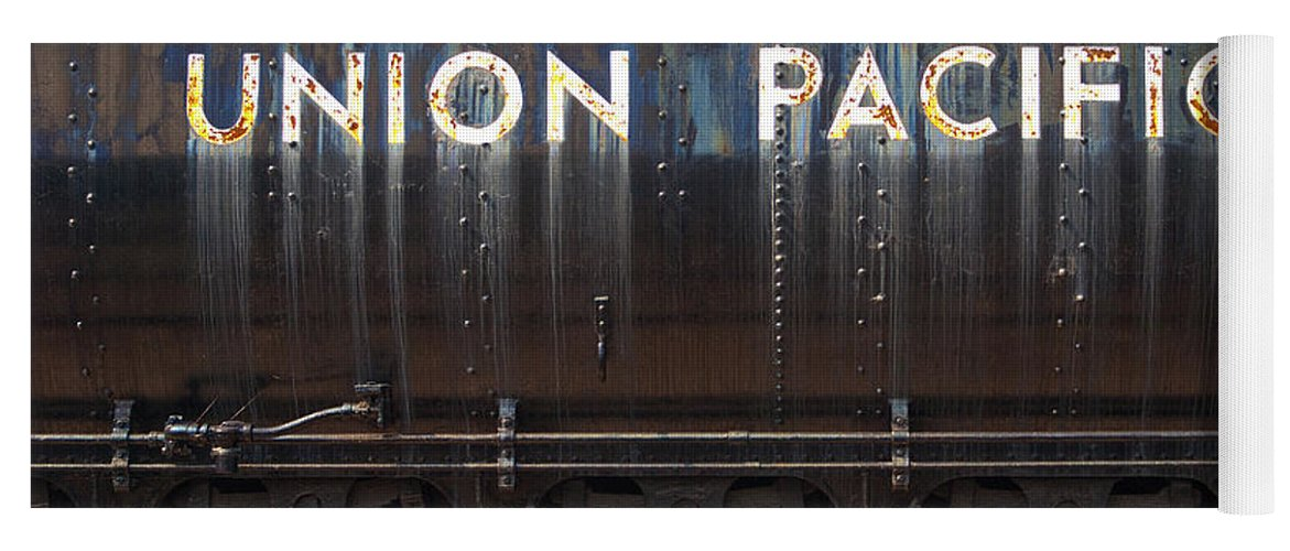 Railroad Yoga Mat featuring the photograph Union Pacific - Big Boy Tender by Paul W Faust - Impressions of Light