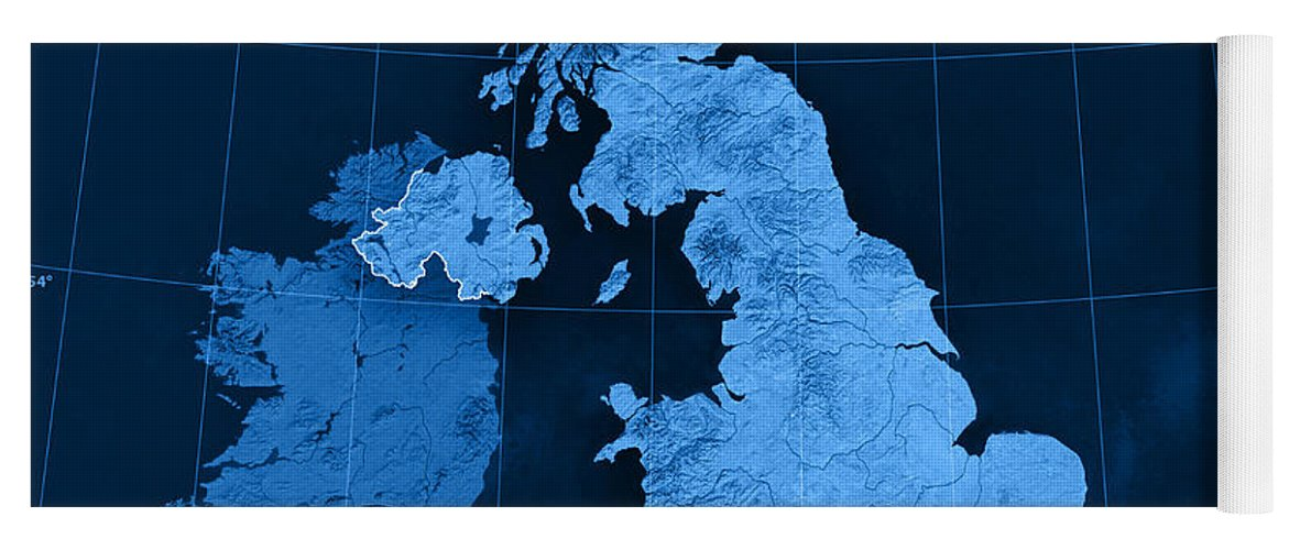 United Kingdom Topographic Map Yoga Mat For Sale By Frank Ramspott