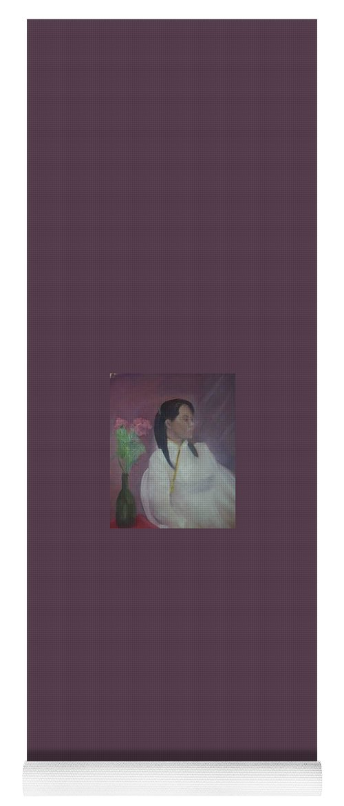 Woman Yoga Mat featuring the painting Untitled #2 by Sheila Mashaw